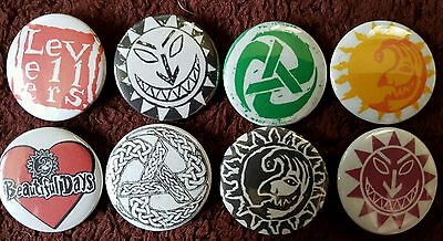The Levellers Button Badges x 8 (SET 2). Pins. Collector. Bargain :0)