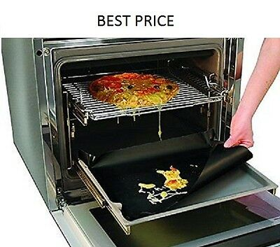 Reuseable Non Stick Heavy Duty Oven Liner/black for Kitchen Gas & Electric Oven