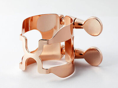 HARRISON Style C Pink Gold Plated Ligature for Bb Clarinet Rubber Mouthpiece