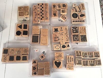 Huge Lot Of 75 Scrapbooking Stamps Stampin Up 12 Sets 1997-2006 Nice!