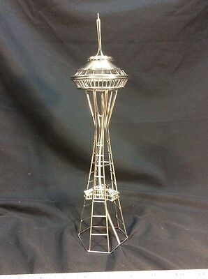 Seattle's Space Needle Wire Model Replica Statue Steel Architecture Gifts