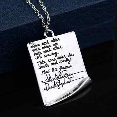 Grey's Anatomy Necklace Quote Greys Mcdreamy Letter Pendant Beautiful Jewelry