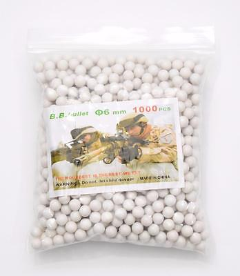 2000 x Airsoft High Grade 0.12g 6mm Polished White Airsoft BB Gun Pellets