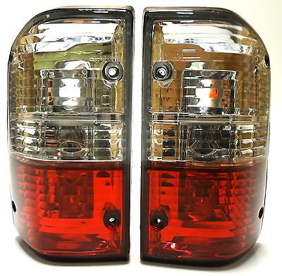 Nissan Patrol GR Y60 87-1997 Rear Tail Signal Lights Lamp Set Crystal red White