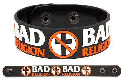 BAD RELIGION Rubber Bracelet Wristband Into the Unknown Suffer No Control