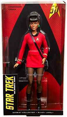 Uhura Doll 13 Inch Barbie Star Trek 50th Anniversary Character Pretend Play Toy