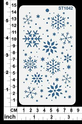 Stencils Templates Masks for Scrapooking, Cardmaking - Snowflakes ST1042