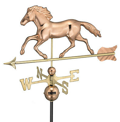 Large Horse Polished Copper Weathervane