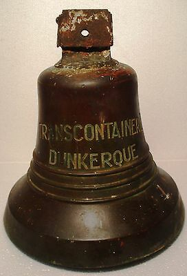 Vintage TRANSCONTAINER I - DUNKERQUE Marine Brass BELL - Great Sounding