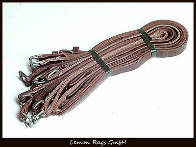 10x Leather belt - Packing strap - Army consisted - Brown leather