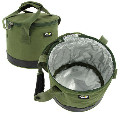 NGT DELUXE GROUND BAIT BOWL WITH HANDLES GREEN FISHING TACKLE BOILIES CARP COARS