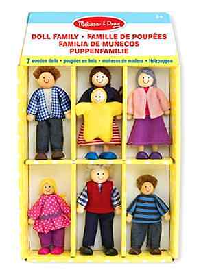 Playset Melissa And Doug 7 Pieces Doll Family Wooden Handcrafted Flexible Arms