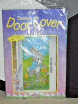 Easter Bunny Plastic Door Cover Decor NEW 30 x 60
