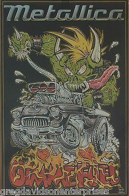 Metallica 22x34 Gimme Fuel Poster 1998 Lil Daddy Roth