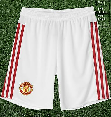 Man Utd Home Shorts - Official Adidas Boys Football Shorts - All Sizes