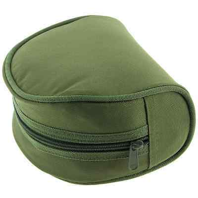 NGT Large Padded Fishing Olive Green Reel Holder Cases For Carp Coarse Reels