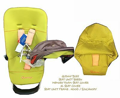 Quinny Buzz Seat unit and xl seat cover and Sun Canopy New with tags on Breen