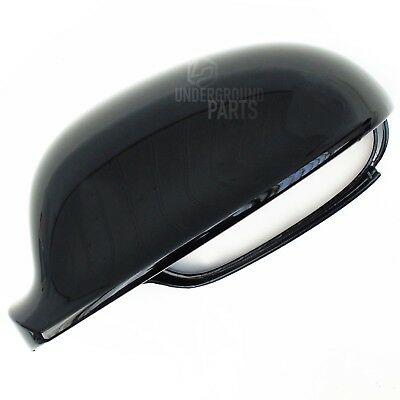 Golf Mk5 Metallic Black Passenger Left Door Wing Mirror Case Cover Cap Housing