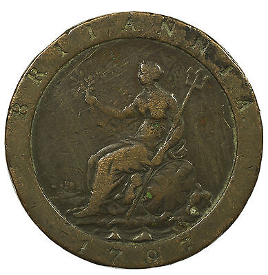 Great Britain, George Iii Cartwheel Penny, 1797