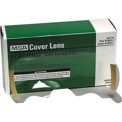 MSA 813832 Cover Lens for Advantage 1000 facepiece, clear, box of 25
