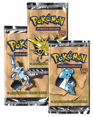 1X Fossil Booster Pack 11 Random Cards Pokemon Sealed