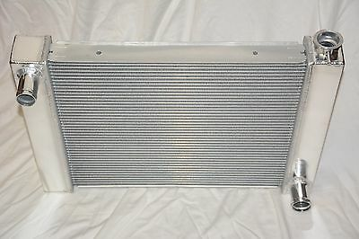 Universal Aluminum 26 x 19 Street Rod Dual Pass Core Radiator Chevy GM Outlets