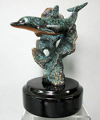 New Nomad Donjo Dolphin Sculpture Dolphins 2000 Edition Figurine Statue