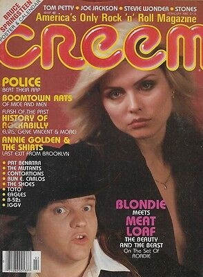 Creem mag  Feb 1980 Blondie Meatloaf Police Boomtown Rats Shirts Shoes Toto