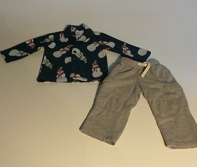 Lot of 2 Gymboree Toddler Clothing Pajama Top and Sweatpants 2T