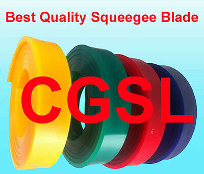 """24 Ft / 288"""" 2 Rolls - 65 Duro Durometer Silk Screen Printing Squeegee Red Blade"""