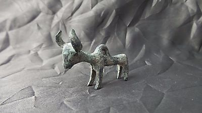 Great Ancient Luristan / Persia Bronze Votive Zebu Ox Pendant Figure