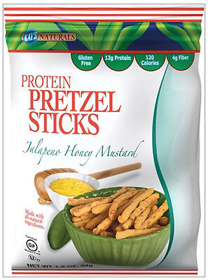 KAYS NATURALS - Jalapeno Honey Mustard Protein Pretzel Sticks - 6 x 1.2 oz. Bags