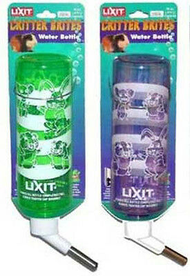 LIXIT - Critter Brites Carded Rabbit Water Bottle Day Glow - 4 oz.