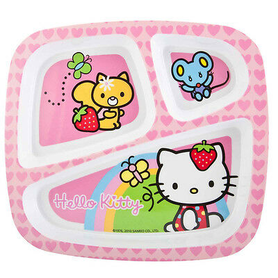ZAK - Hello Kitty 3-Section Plate for Kids - 1 Set