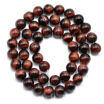 """8mm Gemstone Beads Naturel Rouge Pierre Perles rondes 15 """"Pour Fabrication"""