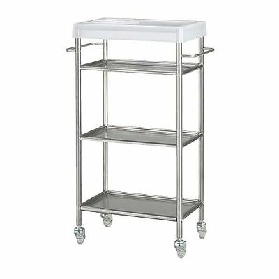 Kitchen Bath Serving Cleaning Trolley GRUNDTAL Stainless steel 48x24x77 cm