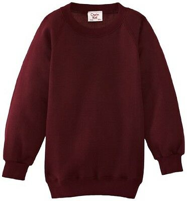 (TG. C46 IN- UK) Charles Kirk Coolflow - Felpa, colletto tondo, , unisex, Rosso