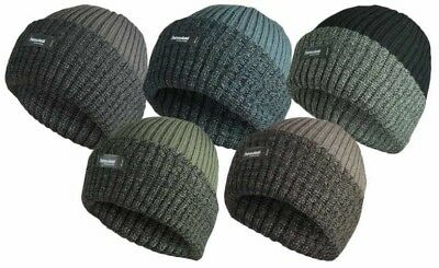 Ladys 3M Thinsulate Insulated Thermal Lined Beanie Hat Bobby Chunky Knit Winter