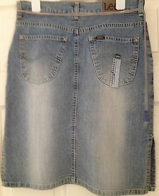 New with Tags GIRLS Age 15 yrs LEE JEANS Denim SKIRT wiith bead ties