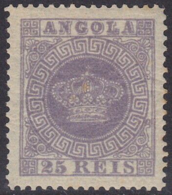 ANGOLA - 1885 25r Dull Purple 'Fournier' Forgery - MM / MH