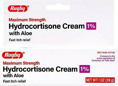 Activis Hydrocortisone 1% Cream w/ Aloe Maximum Strength Anti-Itch 1oz