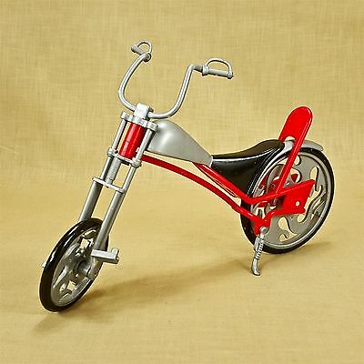 Chopper Style Fashion Doll Bicycle Low Rider Bike w/ Pedals & Kickstand 9.5""