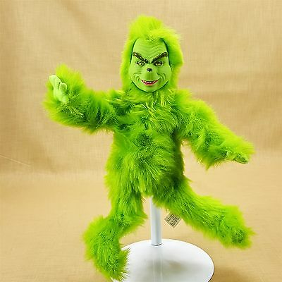 "How Grinch Stole Christmas Movie Talking 12"" Plush Doll w Jim Carey Voice 2000"