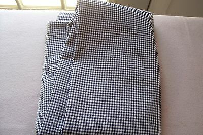 Vtg Antique Victorian  SMALL SCALE Blue Gingham Quilt Dress Fabric 2 + Yards