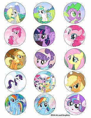 My little pony bottle cap IMAGES 1 inch - My little pony mix images 1 inch