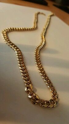 14K Yellow Gold Miami Cuban Curb Link Mens Chain 24 Inches