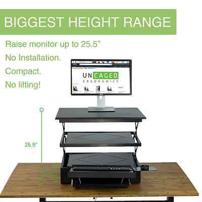 Tall Electric Adjustable Height Standing Desk Conversion -Ergonomic Sit Stand Up