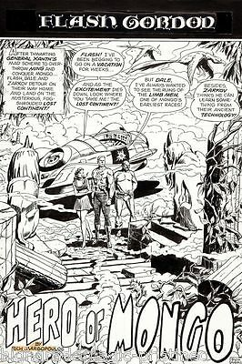 "Flash Gordon Original Art By Dick Ayers  All 10 Pages Signed ""hero Of Mongo"""
