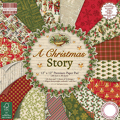 """First Edition 'A Christmas Story' 12"""" x 12"""" FSC Paper Pad FULL PAD"""