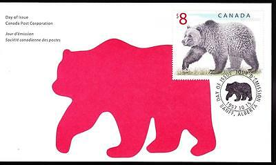 Canada 1997 FDC sc# 1694 Wildlife definitive $8 Grizzly Bear